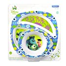 The First Years Disney Monsters Inc. Break Resistant Bowl & Plate 2 Piece Feeding Set Princesses