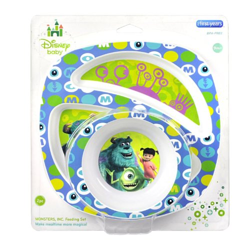 The First Years Disney Monsters Inc. Break Resistant Bowl &