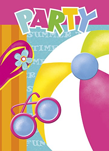 Pool Party Invitations, 8ct -