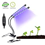 Plant Grow Light, Anfly 40 LED 9 Dimmable Levels Dual Head Timing Grow Lamp, 360°Flexible 3/9/12H Timer Grow Lamp Bulb for Indoor Plants, Hydroponic Gardening, Greenhouse, Office[2018 Upgraded]