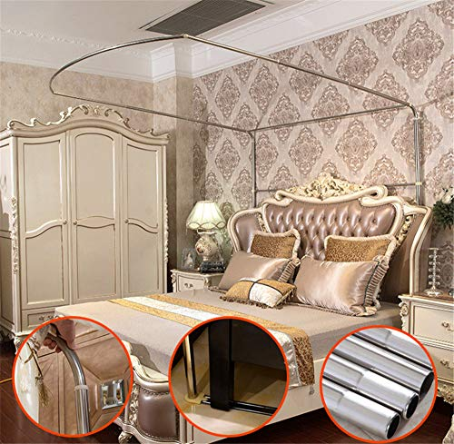 Mosquito net Indoor Mosquito net Outdoor Mosquito net Travel Mosquito net Anti-Mosquito Insect net Palace Mosquito net Bedroom Decoration, Gray, L (97-220Adjustment) W200cm by RFVBNM Mosquito net (Image #2)