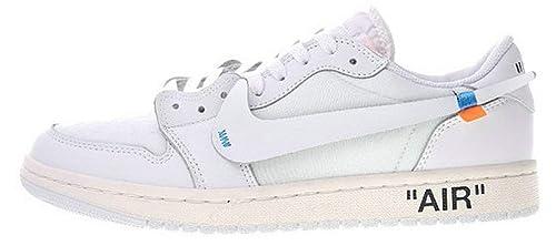 Off White X Nike Air Jordan 1 Low Aa3834-100 White Zapatillas De Deporte para Hombre Mujer: Amazon.es: Zapatos y complementos