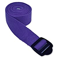 YogaAccessories (TM) 6' Cinch Buckle Cotton Yoga Strap - Purple