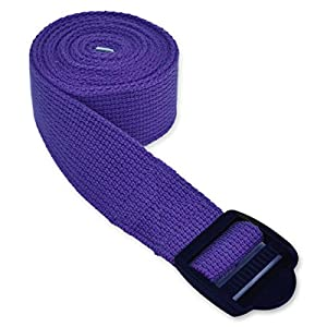 YogaAccessories 6' Cinch Buckle Cotton Yoga Strap