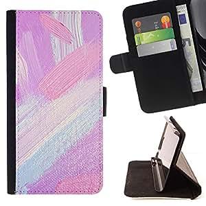 Momo Phone Case / Flip Funda de Cuero Case Cover - Tonos Pintura Brush Strokes Petróleo - Sony Xperia M5