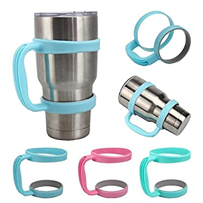 Kikisale Colorful Handle/Lid For Yeti Rambler Tumbler 30 Ounce - Also Fits The Berg - RTIC & SIC Cups 30 OZ Sizes & Most Other Models In 30 OZ
