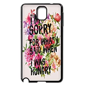 Samsung Galaxy Note 3 Cases I'm Sorry for What i Said When i Was Hungry, [Black]