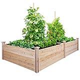 Greenes Fence Cedar Raised Garden Kit 4 Ft. X 8 Ft. X 17.5 In.