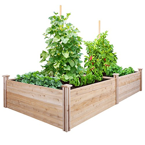 Greenes Fence Cedar Raised Garden Kit 4 Ft. X 8 Ft. X 17.5 In. by Greenes Fence