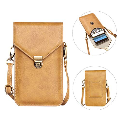 Cell Phone Shoulder Bag, Mini Crossbody Shoulder Bag, 6.3 inch Wrist Handbag Case Outdoor Sport Running Cellphones Bag Wallet Purse Pouch for iPhone/Huawei/HTC/Sony Smartphones or Small Tablets ()