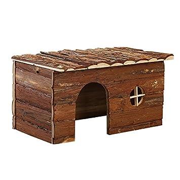 Nobleza 022151 - Casa Refugio de Madera para roedores. Tipo cabaña, Amplia Puerta y