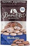 Bandit's Biscuits Natural Grain-Free Crunchy Dog Treats, 10 oz, Blueberry