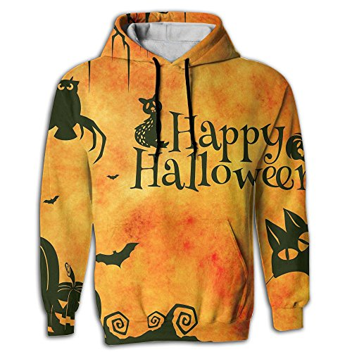 Happy Halloween Sketch Men's Printed Fashion Hoodie Sweatshirt With Pockets