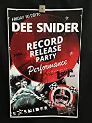 Autographed Dee Snider We Are The Ones Album Release Concert Poster from 10/28/16 at HVAC Pub in Chicago, Poster measures 11x17. Please check out my other items for sale. Thank you