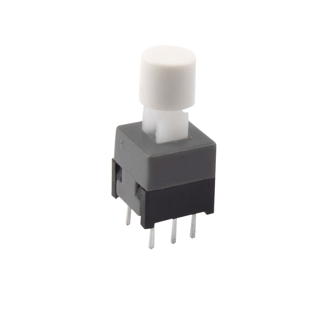 Uxcell 6-Pin Self Lock Tactile Push Button Switch, 8.5 x 8.5 x 14mm
