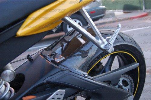 2006 - 2016 Yamaha YZF-R6 Carbon Fiber 100% Plain Carbon Fiber Rear Tire Cover Hugger / Mudguard / Fender / Splashguard Fairing