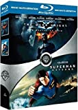 The Dark Knight, le chevalier noir - Superman Returns : coffret 2 Blu-ray [Blu-ray]
