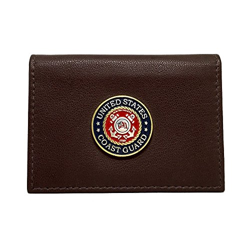 US Coast Guard Leather Business Card Holder Business Card Case by Cigar Cutters by Jim