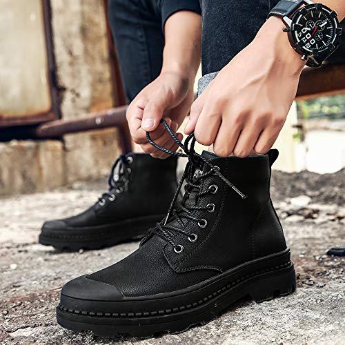 Shukun Herren Stiefel Herbst und Winter Extra Large Code Martin Stiefel Herrenschuhe Extra Große Pu Herren Stiefel Cotton Stiefel