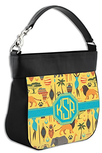 Trim Safari amp; Purse Leather Hobo Back Front Personalized Genuine w African qY6xdq
