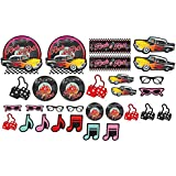 Amscan Nifty 50's Theme Party Cutout Assortment Decoration (30 Piece), Multicolor, One Size