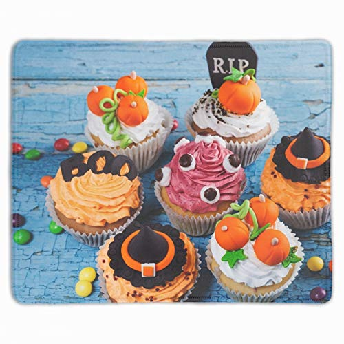 Gaming Mouse Pad Custom Halloween Cupcake Mouse Pad for -