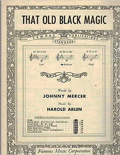 Amazon com: That Old Black Magic - Guitar & Piano Sheet