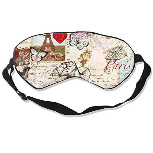 CHI-M Vintage Tour Eiffel Paris Natural Sleep Mask Breathable Silk Shading Eye Mask
