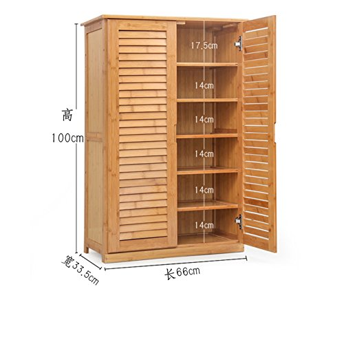 Wooden shoe cabinet bamboo shoe rack solid wood,simple,shoebox storage room shoe rack [multilayer],multifunction,porch door cabinet-A (Wooden Shoe Cabinet)