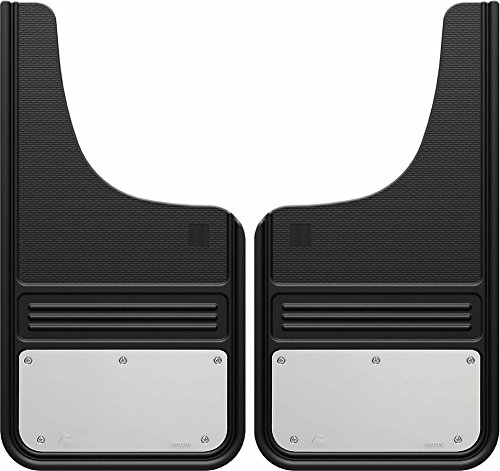 Gatorback Stainless Steel Plate Truck Mud Flaps - Front or Rear Pair