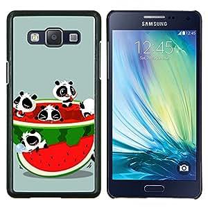 """Be-Star Único Patrón Plástico Duro Fundas Cover Cubre Hard Case Cover Para Samsung Galaxy A5 / SM-A500 ( Divertidos lindos Animales y Sandía"""" )"""