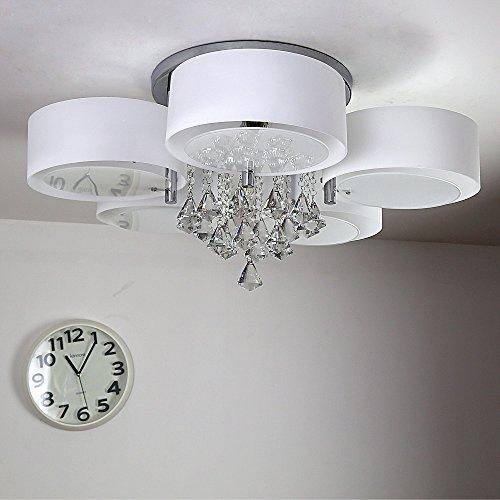 NatsenR Modern Deckenlampe 5 Flammig Kristall Deckenleuchte Designer Wohnzimmer Lampe LED E27 75cm Amazonde Beleuchtung