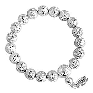 Bracelet Sterling Silver Buddhism Om Mani Padme Hum Edition Verdii BR1260W (23)