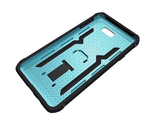 Funda Galaxy ON7 2016,Saincat TPU Silicona con Diseño 3D Carcasa Case con Stand Holder Bumper Case con integrado Soporte Soporte Anti-Drop Shockproof Slim Funda caso Parachoques Silicona Transparente  Azul
