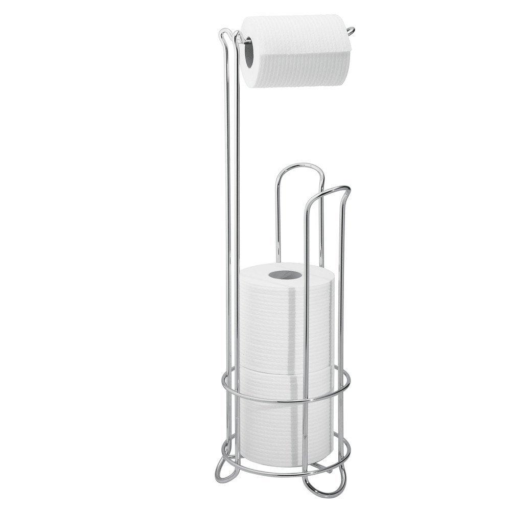 Modern free standing toilet paper holder - Amazon Com Interdesign Classico Free Standing Toilet Paper Holder For Bathroom Storage Chrome 6 5 X 23 75 Inches Home Kitchen