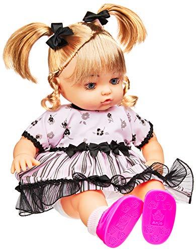 Boneca Anjos Baby Loira Anjo Rosa