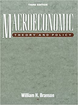 macroeconomic theory and policy 3rd edition william h branson pdf