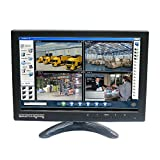Sourcingbay IPS101 10' IPS TFT LED CCTV Monitor with HDMI Cable and BNC Cable for DVR Camera PC - Built-in Speaker (Black)