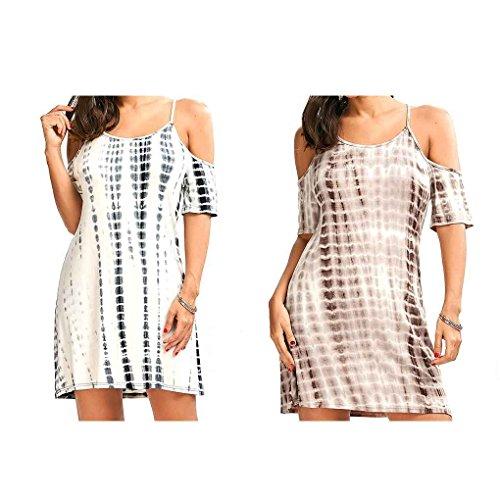 Verano Tirante Mujeres algodón Vestido Providethebest de vestidoalbaricoque Hombro Espagueti del del Mini Las Atractivas Corto Chica del L wvTC5nIqC