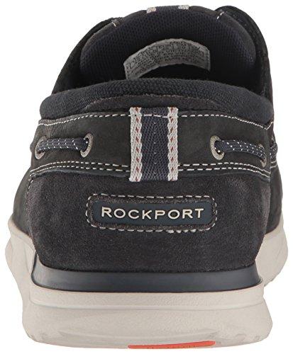 Rockport Mens Langdon 3 Eye Ox Oxford Acciaio Blu Nabuk