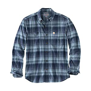 Carhartt Men's Rugged Flex Hamilton Plaid Flannel Shirt (Regular and Big & Tall Sizes)