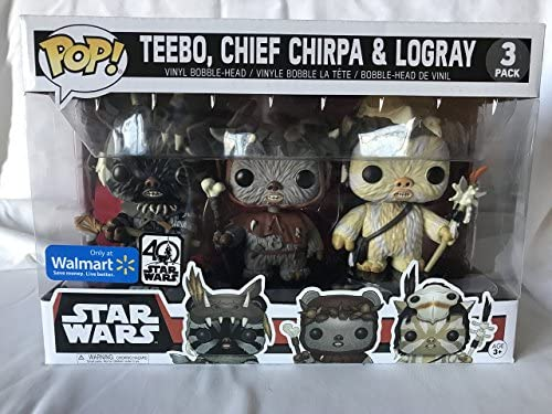 Pack 3 Figuras Pop! Star Wars: Teebo Chirpa Logray Limited: Amazon.es: Juguetes y juegos