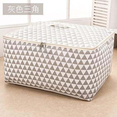 cupwenh le coton et le lin, couettes sub poches bourse déshumidifiant portatraje lavable organiser Vêtement Box Grandes de 57*45*28cm. triangle