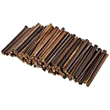 Natural Bamboo Sticks - 100-Pack Bamboo Stakes Craft Supplies, for DIY and Planters, Brown Bamboo, 5.2 inches Long and 0.27-0.4 inches Thick