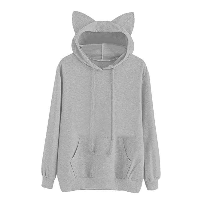Amazon.com: HYIRI Hoodie Sweatshirt Hooded,Womens Cat Long Sleeve Pullover Tops Blouse: Clothing