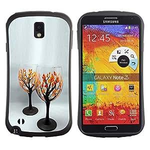 Suave TPU GEL Carcasa Funda Silicona Blando Estuche Caso de protección (para) Samsung Note 3 / CECELL Phone case / / tree love /