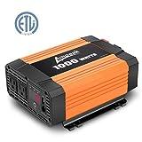 Ampeak 1000W Power Inverter 12V DC to 110V AC /Truck/RV Inverter/Converter