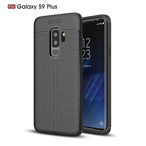 Price comparison product image Galaxy S9 Plus Case,S9 Plus Case,DAMONDY 3D Skin Painting Non Slip Armor Shock Absorption Carbon Fiber Texture Soft Full Protection Phone Case for Samsung Galaxy S9 Plus 2018-Black