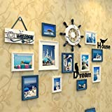 Home@Wall photo frame Solid Wood Photo Gallery Frame Set Of Wall With Usable Artwork And Family, Set Of 11 ( Color : G )