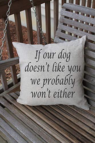 High quality Pillow Cushion Cover, Funny Dog Quote, Pet Pillow, Dog Quote, Funny Pet Decor, Pet Home Decor, Custom Pillow Cover